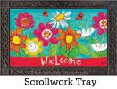 Indoor & Outdoor Welcome Blooms MatMate Doormat-18x30