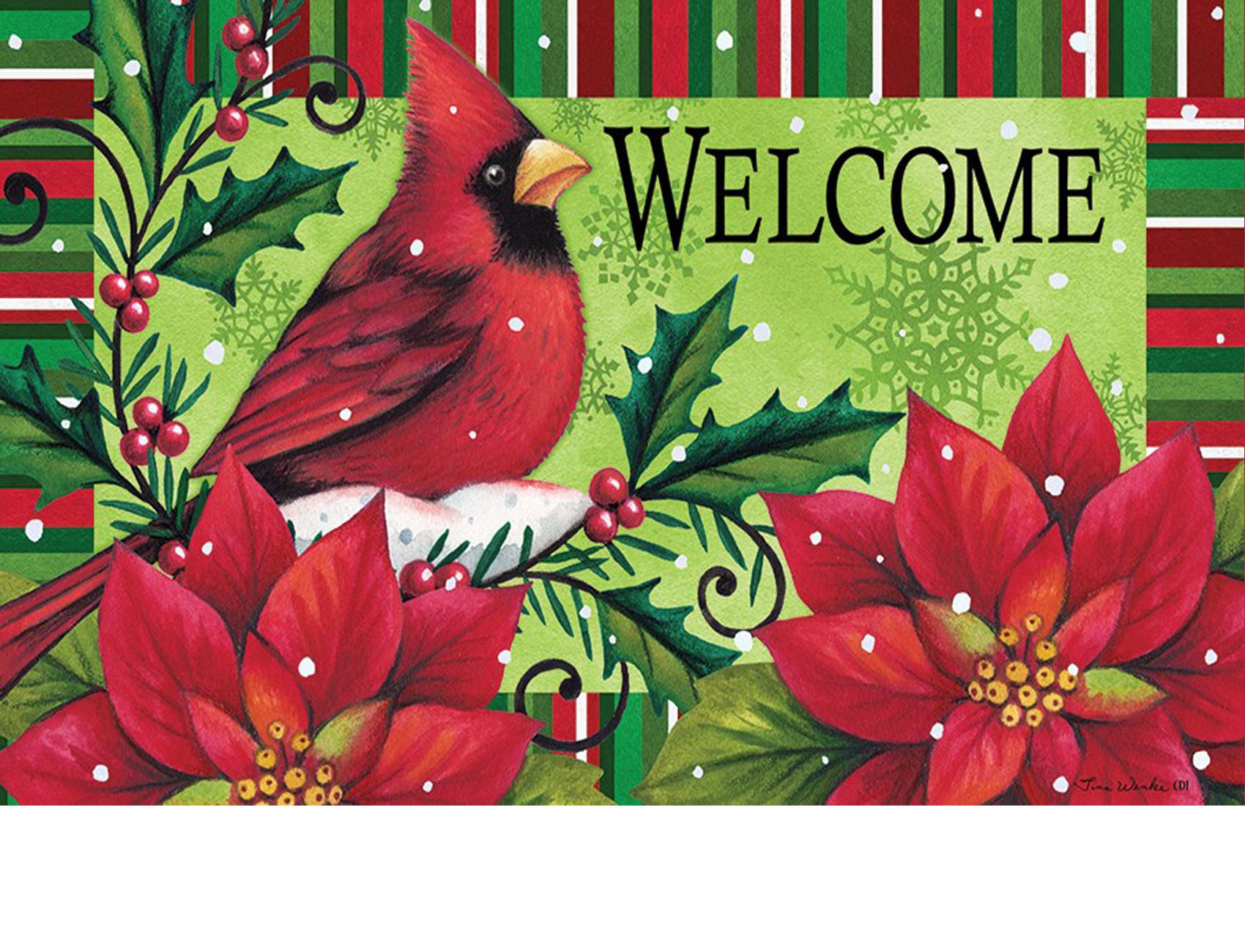 Indoor \u0026 Outdoor Welcome Cardinal Insert Doormat - 18\