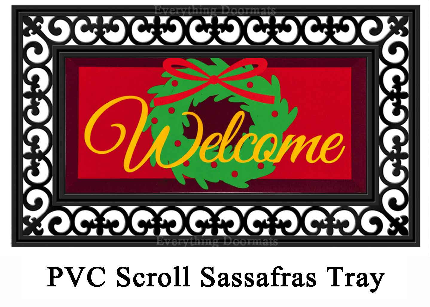 sc 1 st  Everything Doormats & Sassafras Welcome Door Wreath Switch Doormat - 10 x 22
