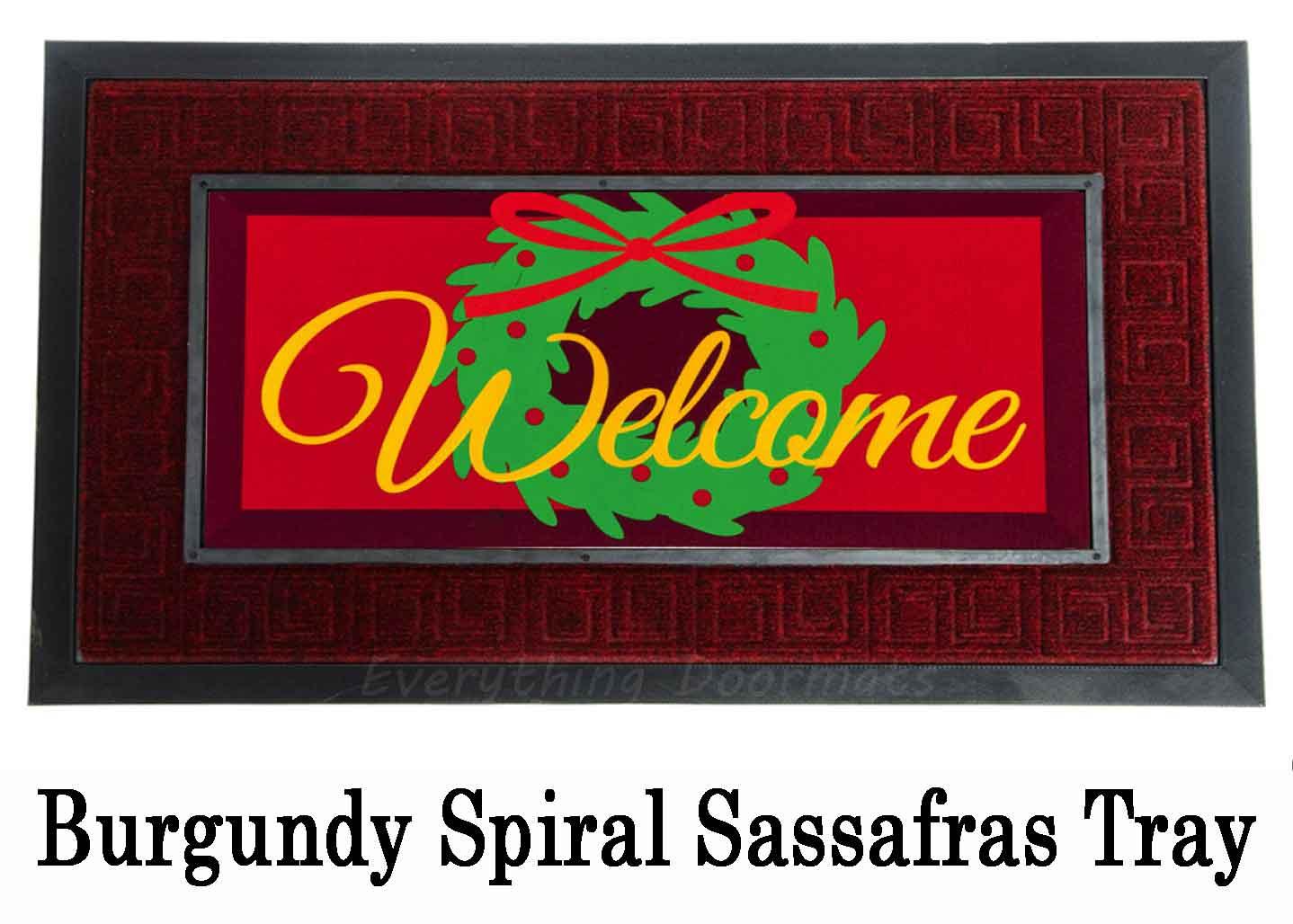 Sassafras Welcome Door Wreath Switch Doormat 10 X 22