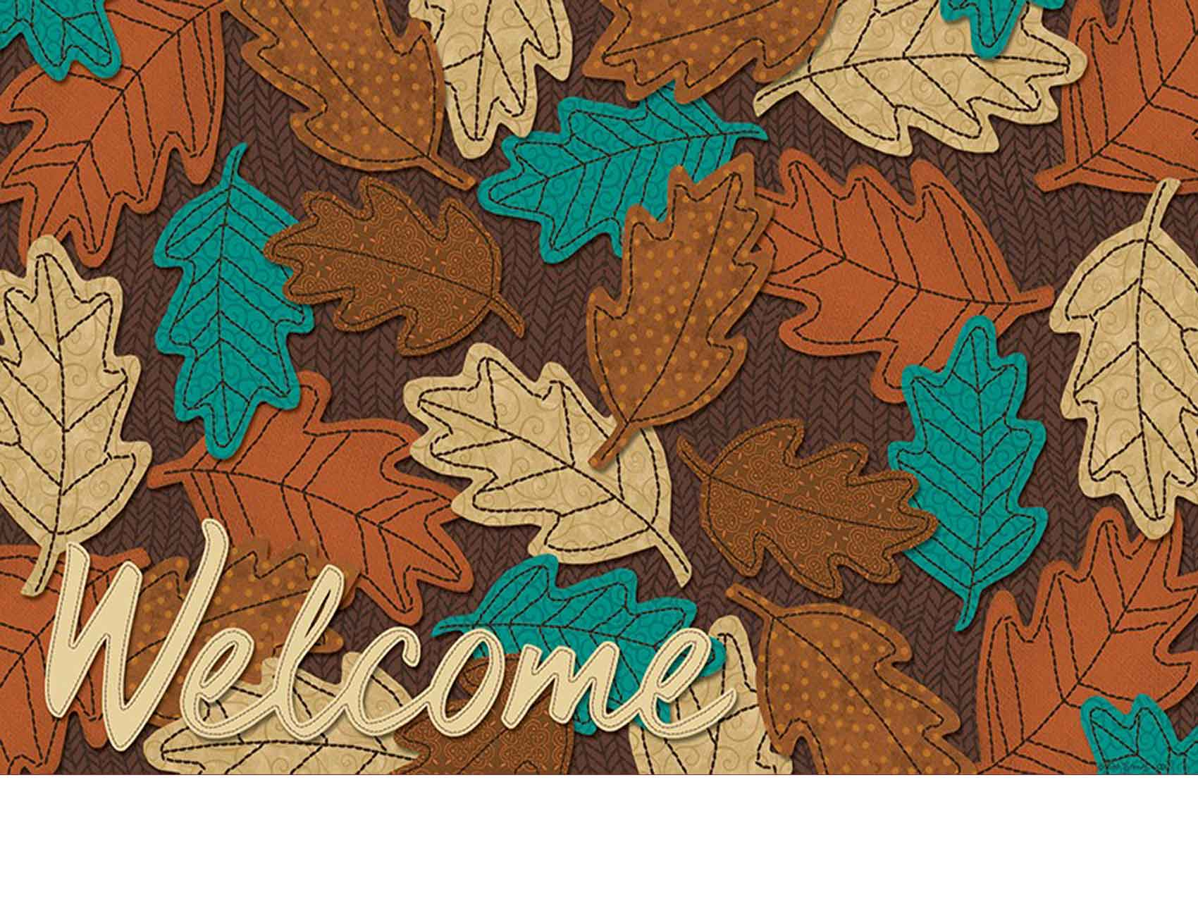 Indoor Amp Outdoor Welcome Fall Leaves Insert Doormat 18x30