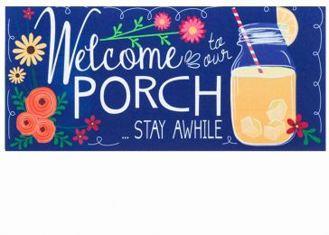 Sassafras Welcome Home Switch Mat - 10 x 22 Insert Doormat