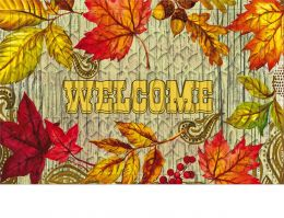 Trellis Embossed Welcome Leaves Doormat - 19 x 30