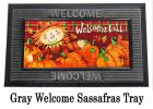 Sassafras Welcome Scarecrow Switch Doormat - 10 x 22