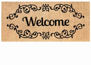 Sassafras Welcome Scroll Mat - 10 x 22 Insert Doormat