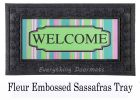 Sassafras Welcome Stripe Switch Mat - 10 x 22 Insert