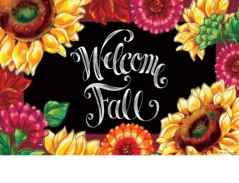 Indoor & Outdoor Welcome Sunflowers Insert Doormat