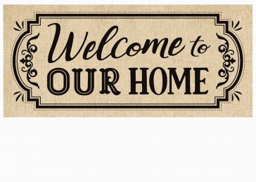 Sassafras Welcome to our Home Switch Mat - 10 x 22 Insert
