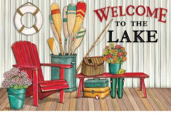Indoor & Outdoor Welcome to the Lake Insert Doormat-18x30