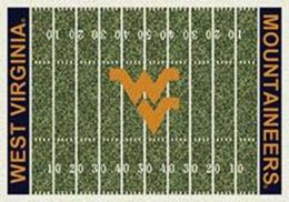 WVU Mountaineers Home Field Nylon Area Rug