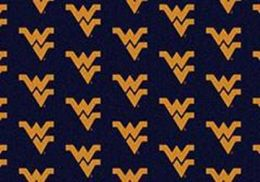 West Virginia University Repeat Logo Nylon Area Rug