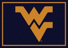 West Virginia University Nylon Spirit Area Rug