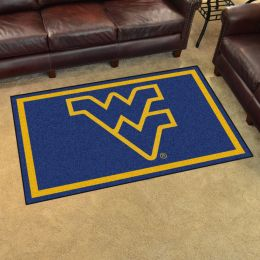 West Virginia University Area Rug - 4 x 6 Nylon