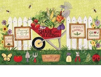 Indoor & Outdoor Wheelbarrow Veggies MatMate Doormat
