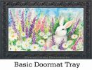 Indoor & Outdoor White Bunny MatMates Doormat - 18 x 30