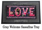 Sassafras Wildflower Love Chalkboard Switch Mat - 10 x 22