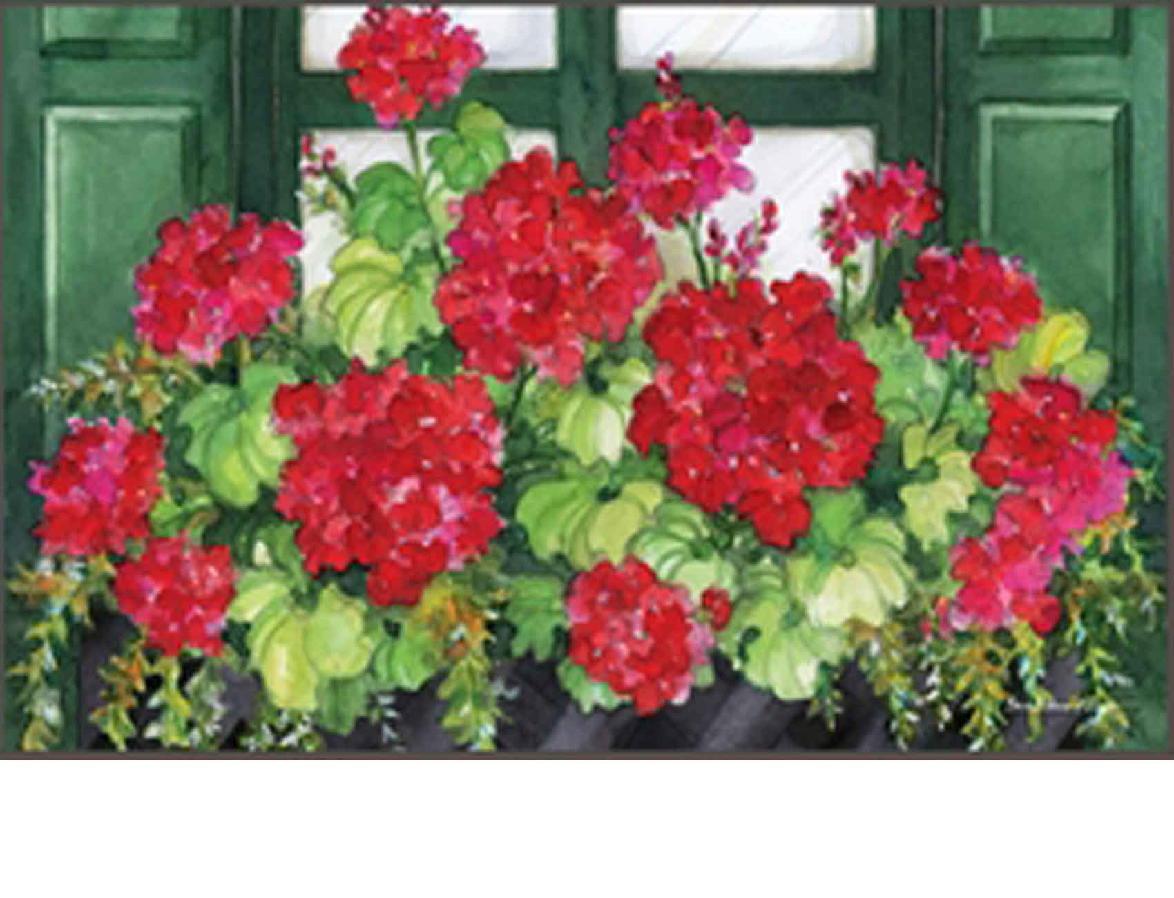 Indoor Amp Outdoor Window Box Geranium Matmate Doormat