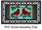 Sassafras Winter Cardinal Switch Insert Doormat - 10 x 22