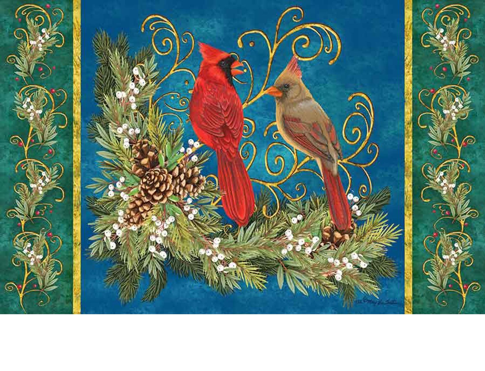 Indoor Amp Outdoor Winter Cardinals Insert Doormat 18 Quot X 30 Quot