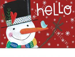 Indoor & Outdoor Winter Happiness MatMate Doormat - 18x30