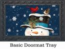 Indoor & Outdoor Winter is Here MatMates Doormat - 18 x 30
