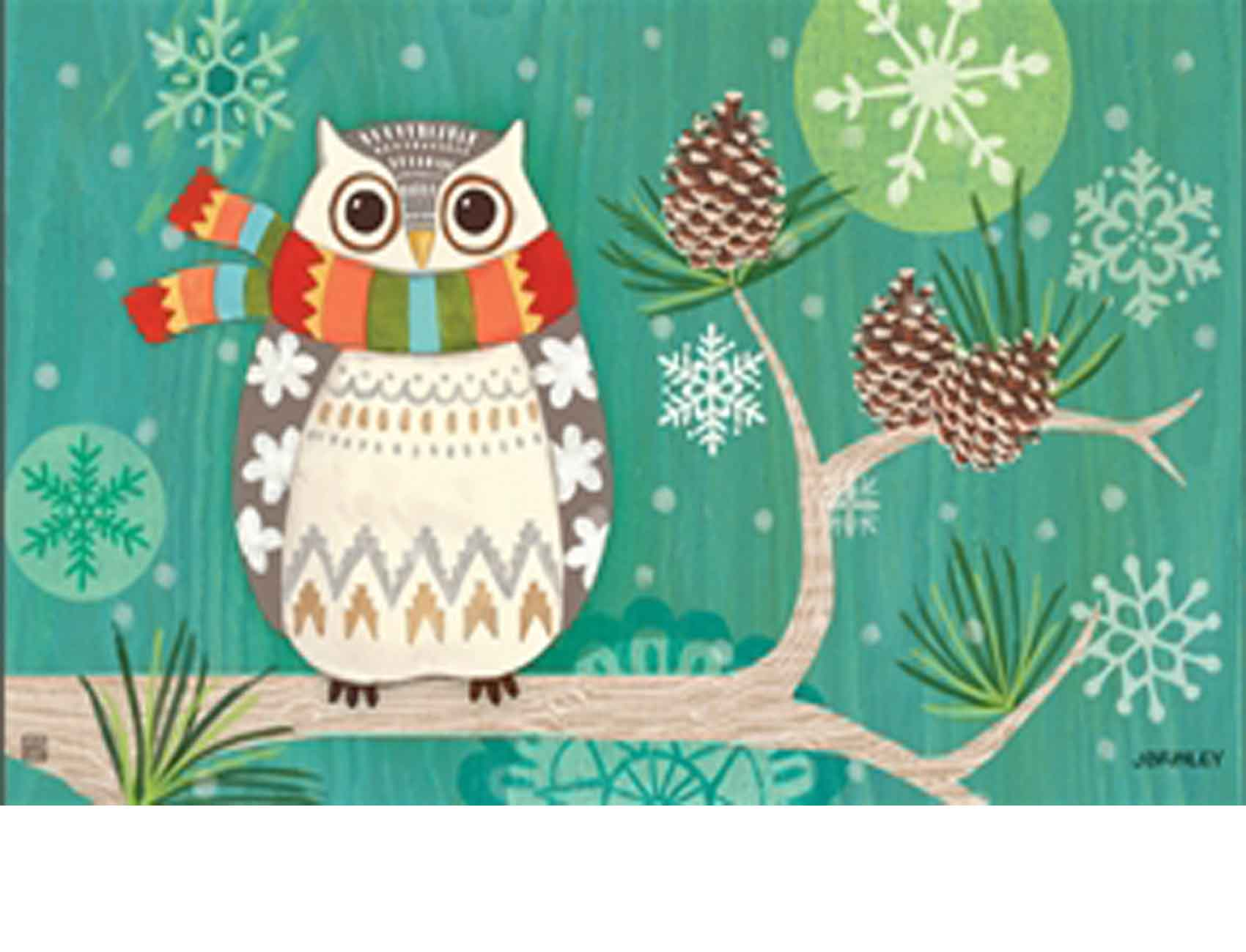 Indoor Amp Outdoor Winter Owl Matmates Doormat 18 X 30