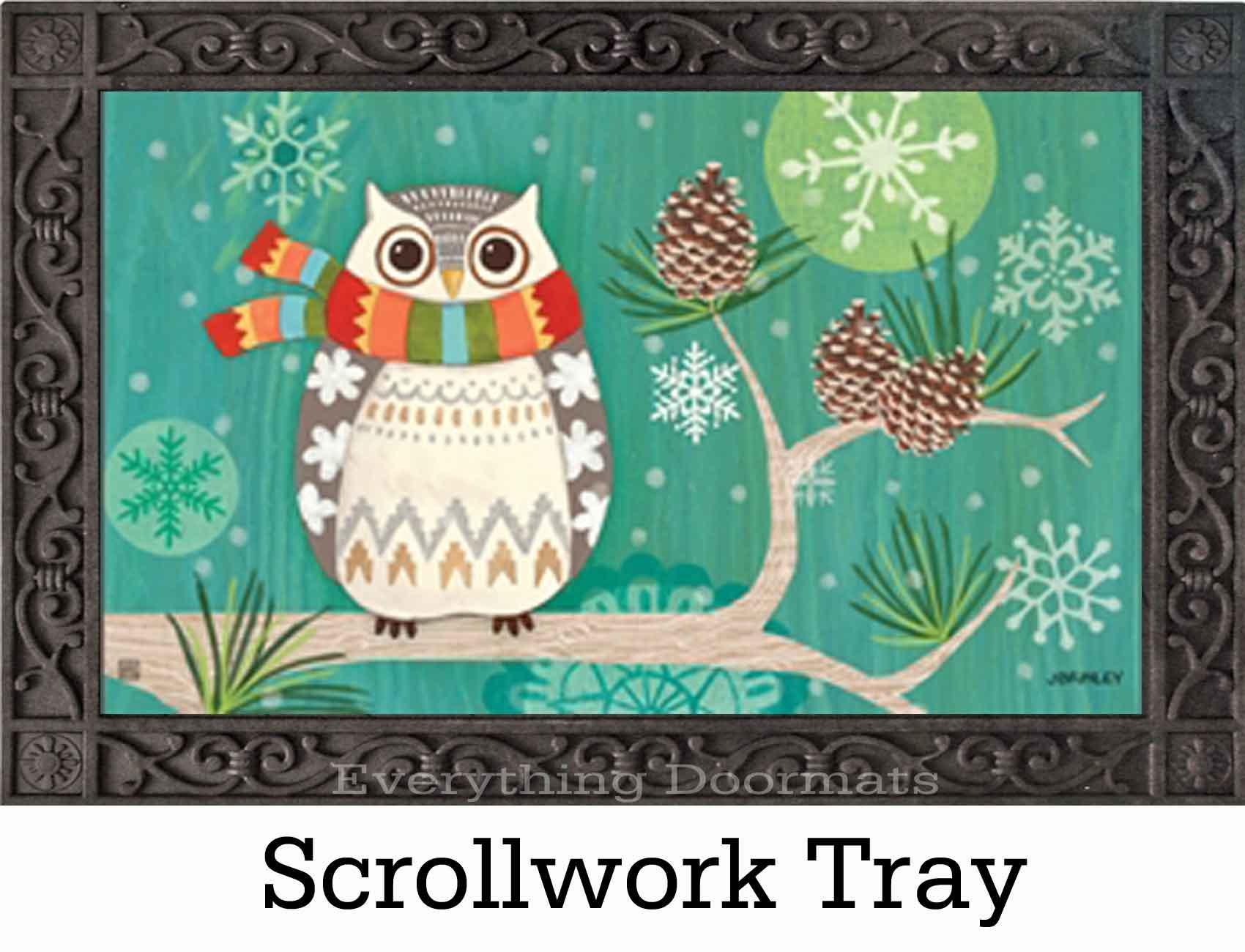 Indoor outdoor winter owl matmates doormat 18 x 30 for Best doormat for snow