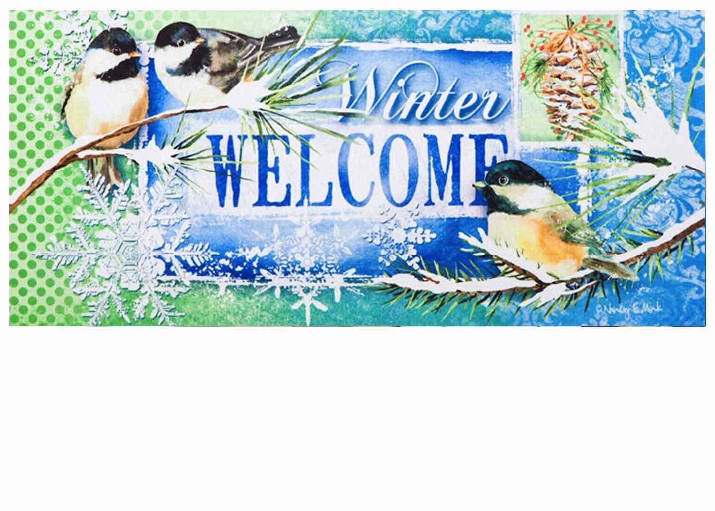 Sassafras Winter Welcome Switch Doormat 10 X 22
