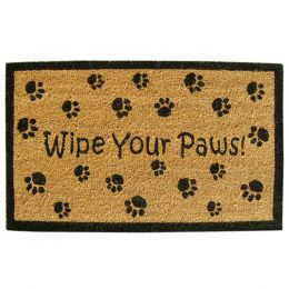 SuperScraper Vinyl Coco Coir Doormat - Wipe Your Paws