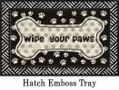 Hatch Embossed Wipe Your Paws Dimensions Doormat - 19 x 30