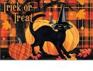 Indoor & Outdoor Witch Hat Cat MatMate Doormat - 18x30
