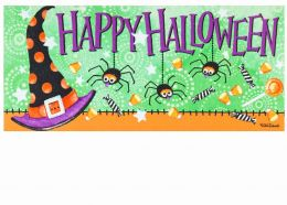 Sassafras Witchy Halloween Switch Insert Doormat - 10 x 22