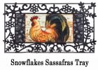 Sassafras Wood Backed Rooster Switch Mat - 10 x 22 Insert