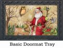 Indoor & Outdoor Woodland Santa MatMate Doormat-18x30