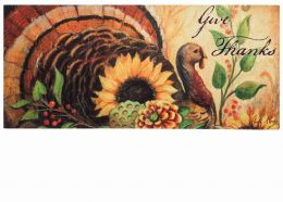 Sassafras Woodland Turkey Switch Mat - 10 x 22 Doormat