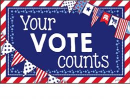 Indoor & Outdoor Your Vote Counts MatMate Doormat-18x30