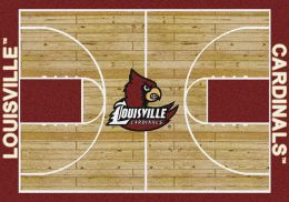 Louisville Cardinals Logo Home Court or Home Field Area Rug (Field or Court: Home Court)
