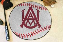Alabama A&M University Ball-Shaped Area Rugs (Ball Shaped Area Rugs: Baseball)