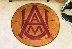Alabama A&M University Ball-Shaped Area Rugs (Ball Shaped Area Rugs: Basketball)