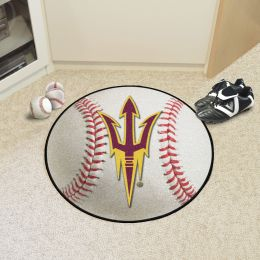 Arizona State University Ball Shaped Area Rugs (Ball Shaped Area Rugs: Baseball)