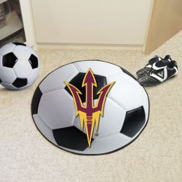 Arizona State University Ball Shaped Area Rugs (Ball Shaped Area Rugs: Soccer Ball)