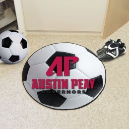 Austin Peay State University Ball-Shaped Area Rugs (Ball Shaped Area Rugs: Soccer Ball)