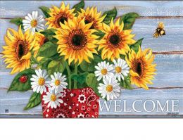 Indoor & Outdoor Bandana Sunflowers MatMates Doormat (Doormat or Flag: Doormat)