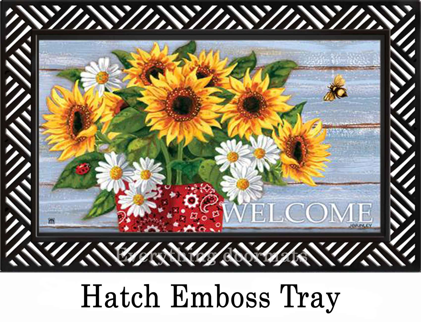 Indoor Amp Outdoor Bandana Sunflowers Matmates Doormat