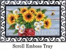 Indoor & Outdoor Bandana Sunflowers MatMates Doormat