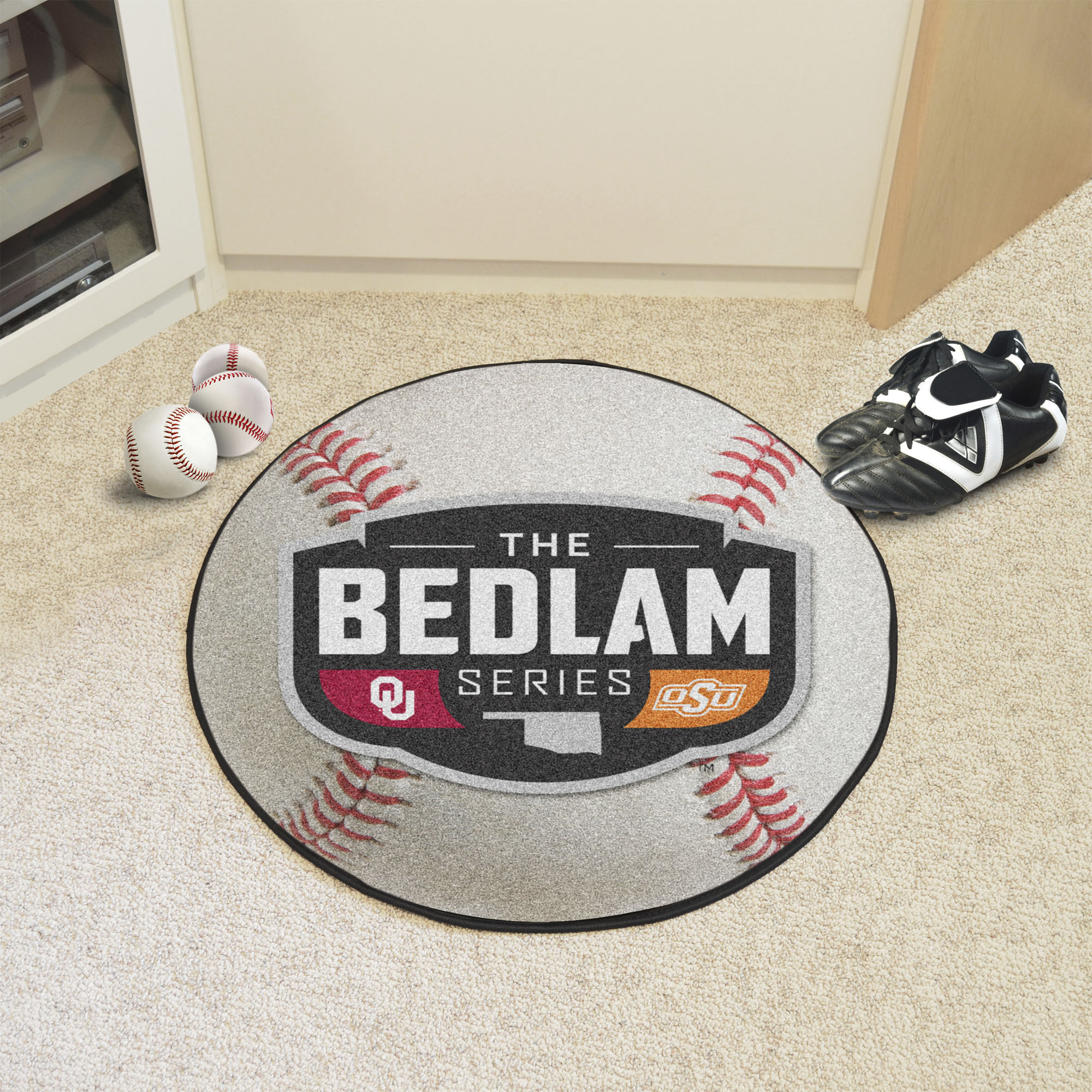 Bedlam Series Ball Shaped Area Rugs (Ball Shaped Area Rugs: Baseball)