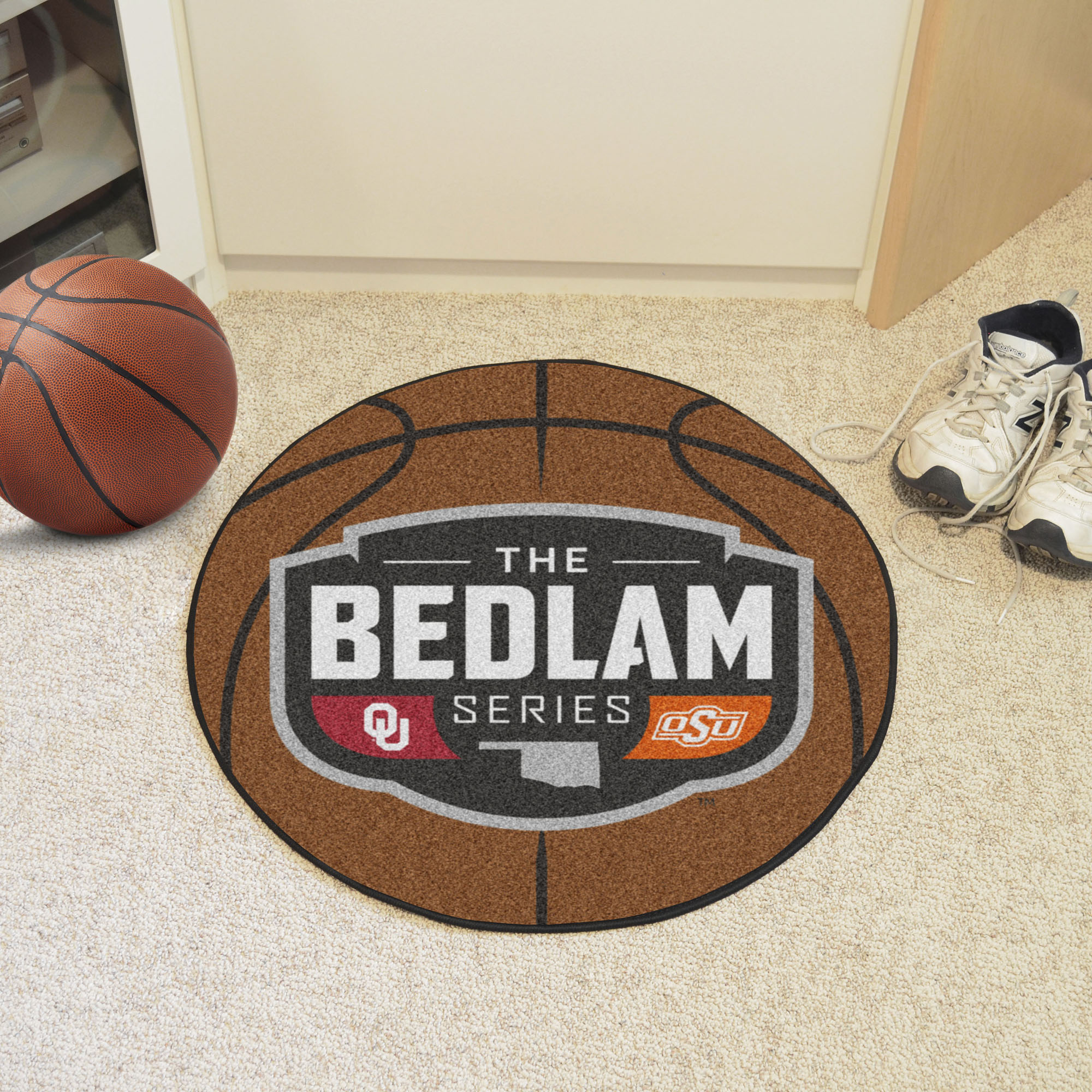 Bedlam Series Ball Shaped Area Rugs (Ball Shaped Area Rugs: Basketball)