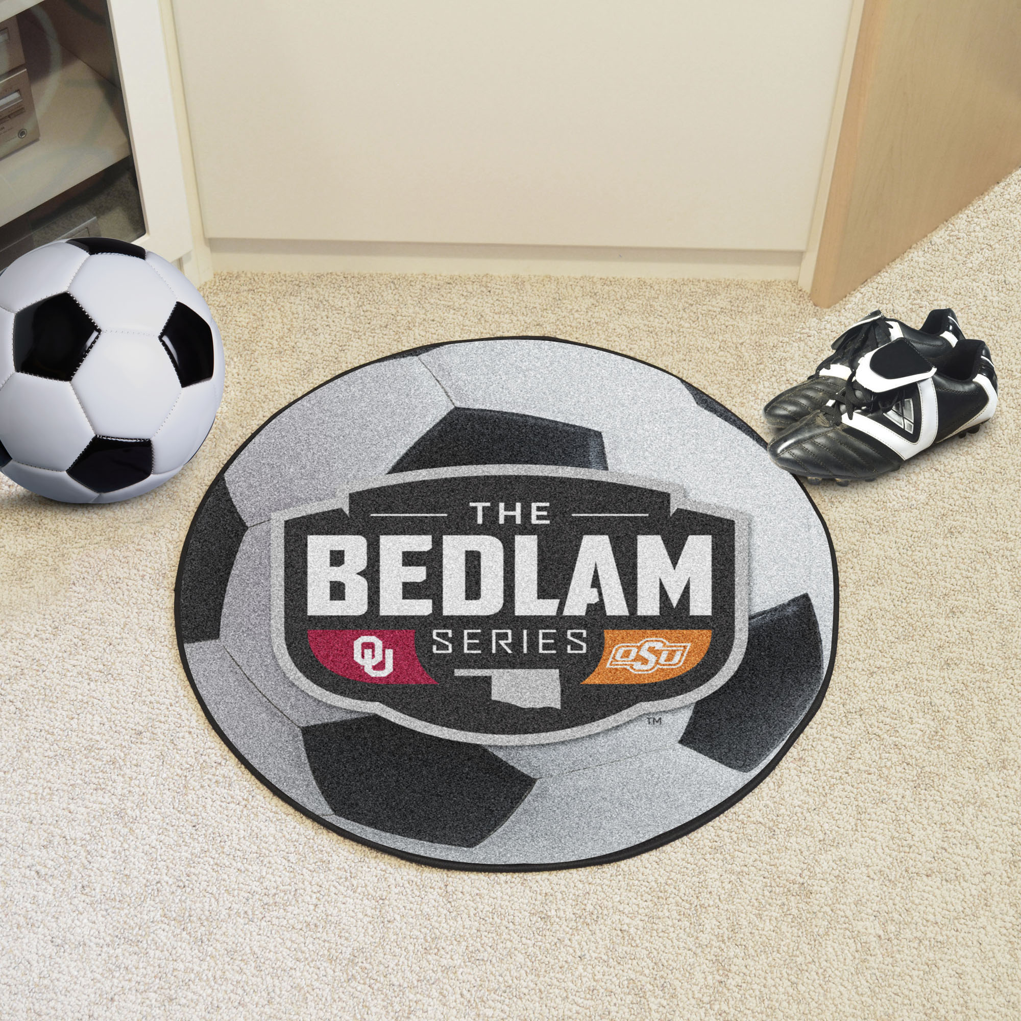 Bedlam Series Ball Shaped Area Rugs (Ball Shaped Area Rugs: Soccer Ball)