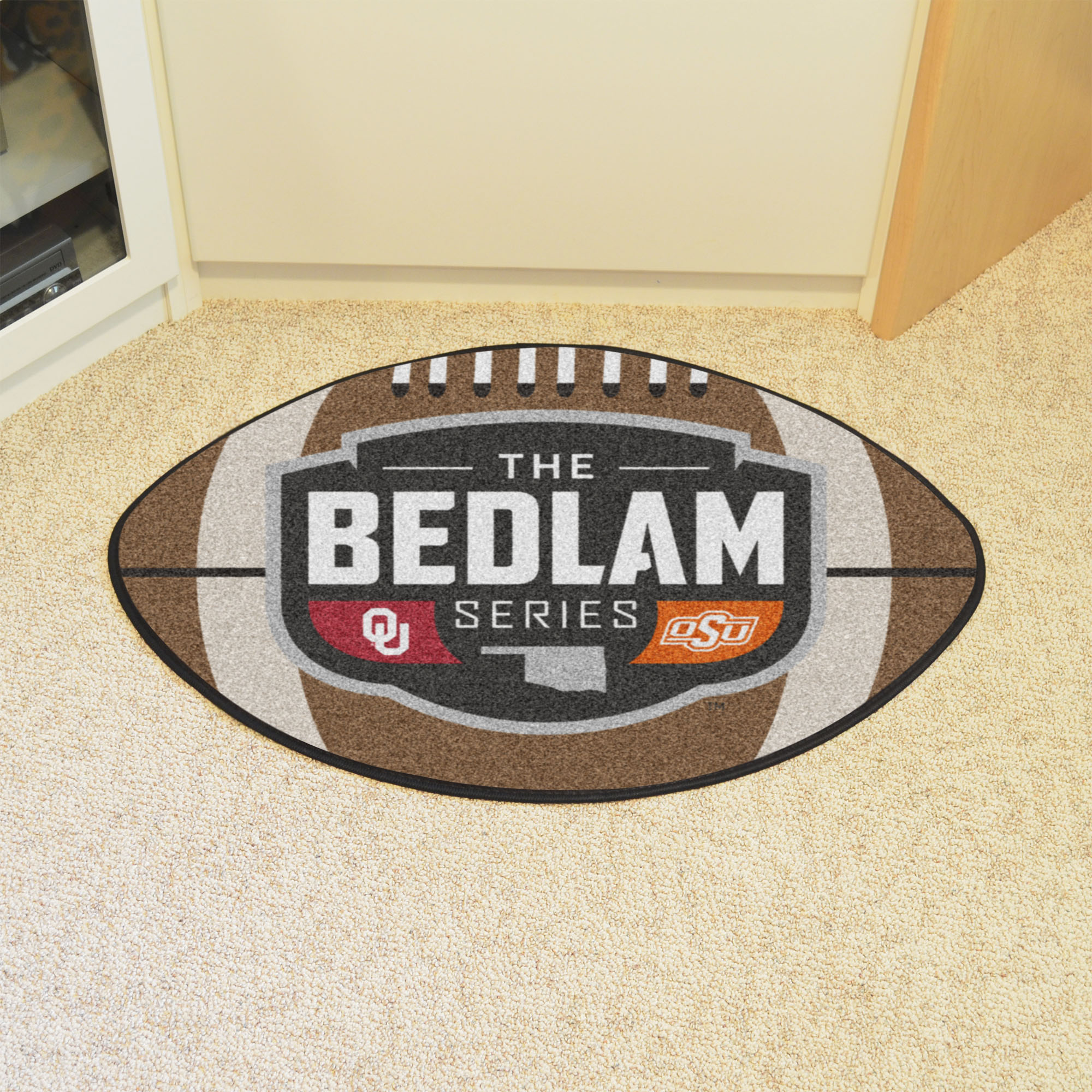 Bedlam Series Ball Shaped Area Rugs (Ball Shaped Area Rugs: Football)