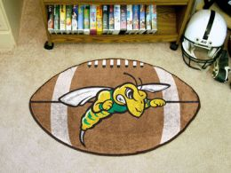 Black Hills State University Area Rugs - Nylon Ball Shaped (Ball Shaped Area Rugs: Football)